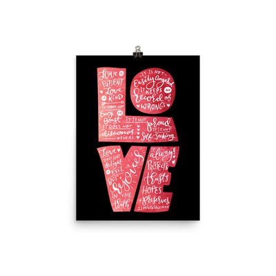 Love Is Patient - Poster-12×16-Made In Agapé