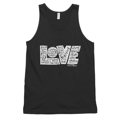 LOVE Protects - Unisex Tank-Black-XS-Made In Agapé