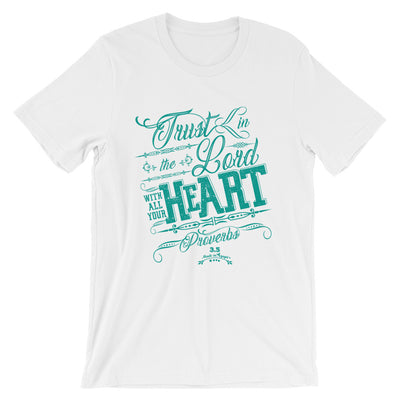 Trust In The Lord - Cozy Fit Short Sleeve Tee-White-XS-Made In Agapé