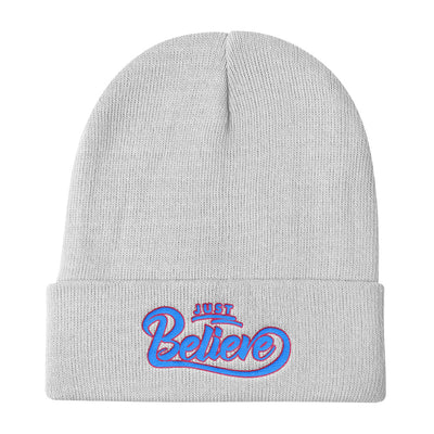 Just Believe - Knit Beanie-White-Made In Agapé