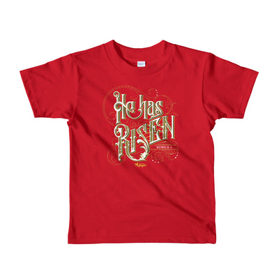 He Has Risen - Kids T-Shirt-Red-2yrs-Made In Agapé