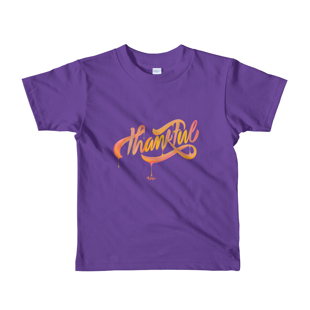 Thankful - Kids T-Shirt-Purple-2yrs-Made In Agapé