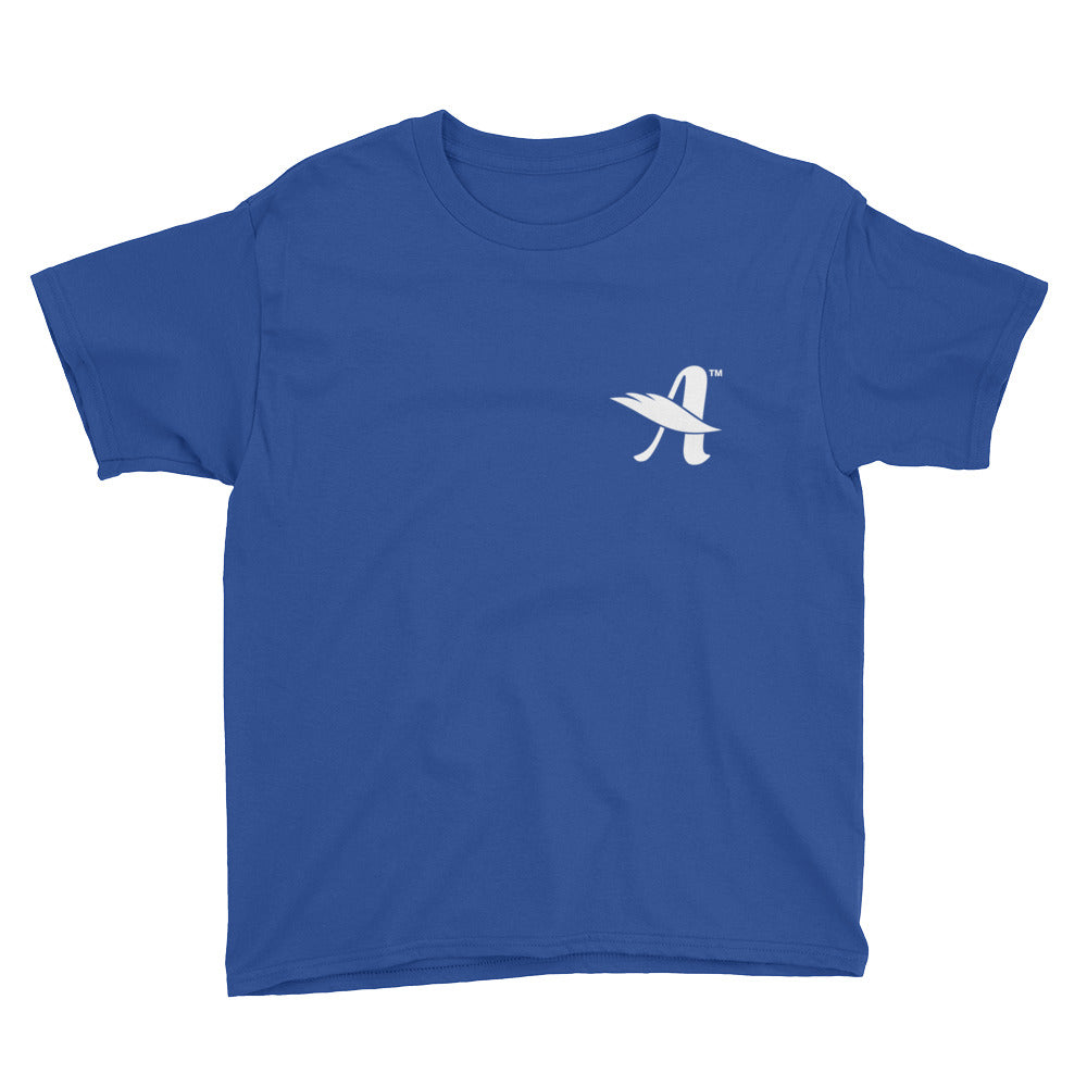 Agapé™ Attitude - Youth Short Sleeve Tee-Royal Blue-XS-Made In Agapé