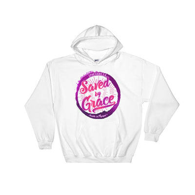 Saved By Grace - Men's Hoodie-White-S-Made In Agapé