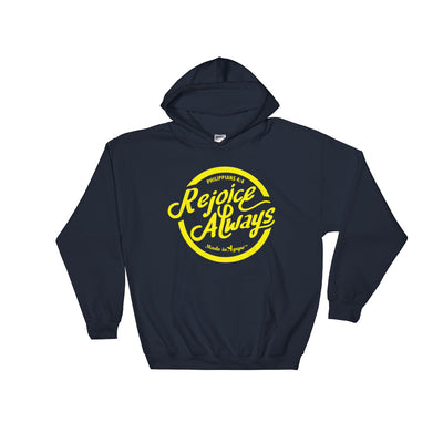 Rejoice Always - Men's Hoodie-Navy-S-Made In Agapé