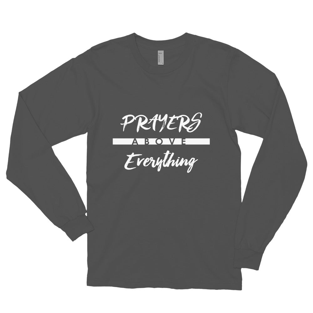 Prayers Over Everything - Unisex Long Sleeve Shirt-Asphalt-S-Made In Agapé
