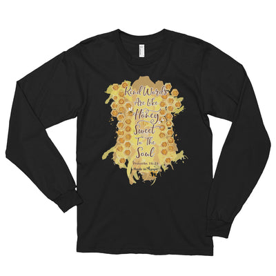 Kind Words Are Like Honey - Unisex Long Sleeve Shirt-Black-S-Made In Agapé