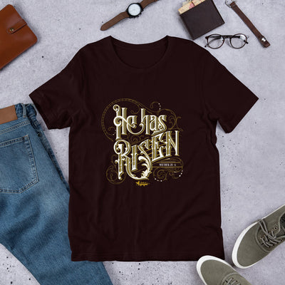 He Has Risen - Unisex Crew-Oxblood Black-S-Made In Agapé