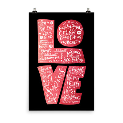 Love Is Patient - Poster-24×36-Made In Agapé