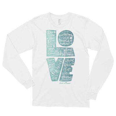 LOVE Is Patient - Unisex Long Sleeve Shirt-White-S-Made In Agapé