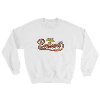 Just Believe - Women's Sweatshirt-White-S-Made In Agapé