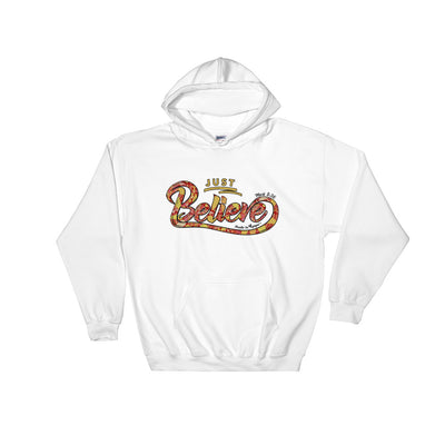 Just Believe - Women's Hoodie-White-S-Made In Agapé