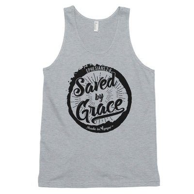 Saved By Grace - Unisex Tank-Heather Grey-XS-Made In Agapé