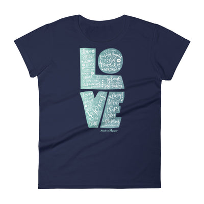 LOVE Is Patient - Ladies' Fit Tee-Navy-S-Made In Agapé