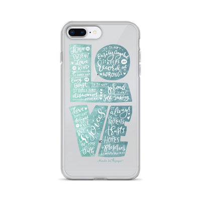 LOVE Is Patient - iPhone Case-iPhone 7 Plus/8 Plus-Made In Agapé