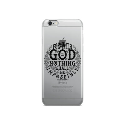 Nothing Impossible With God - iPhone Case-iPhone 6/6s-Made In Agapé