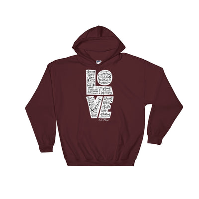 LOVE Is Patient - Men's Hoodie-Maroon-S-Made In Agapé