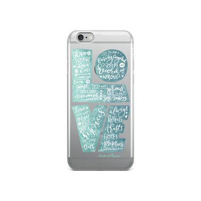 LOVE Is Patient - iPhone Case-iPhone 6/6s-Made In Agapé