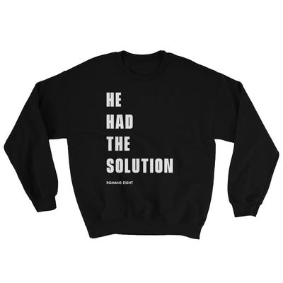 Solution Before Problem - Women's Sweatshirt-Black-S-Made In Agapé