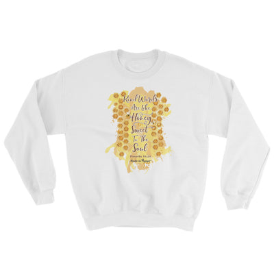 Kind Words Are Like Honey - Women's Sweatshirt-White-S-Made In Agapé