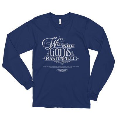 We Are God's Masterpiece - Unisex Long Sleeve Shirt-Navy-S-Made In Agapé