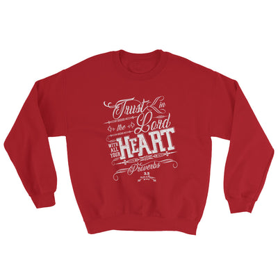 Trust In The Lord - Men's Sweatshirt-Red-S-Made In Agapé