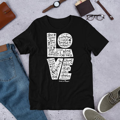 LOVE Is Patient - Unisex Crew-Black-XS-Made In Agapé