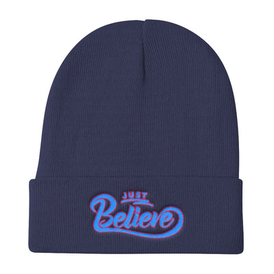 Just Believe - Knit Beanie-Navy-Made In Agapé
