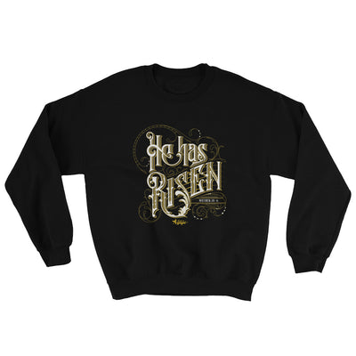 He Has Risen - Men's Sweatshirt-Black-S-Made In Agapé