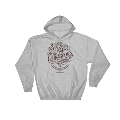 Be Strong And Courageous - Women's Hoodie-Sport Grey-S-Made In Agapé