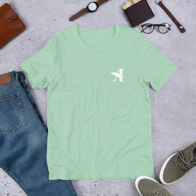 Agapé Attitude - Cozy Fit Short Sleeve Tee-Heather Prism Mint-XS-Made In Agapé