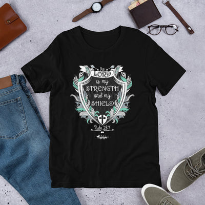 Lord Is My Strength and Shield - Unisex Crew-Black-XS-Made In Agapé