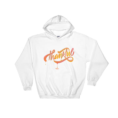 Thankful - Women's Hoodie-White-S-Made In Agapé
