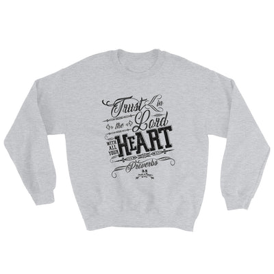 Trust In The Lord - Men's Sweatshirt-Sport Grey-S-Made In Agapé