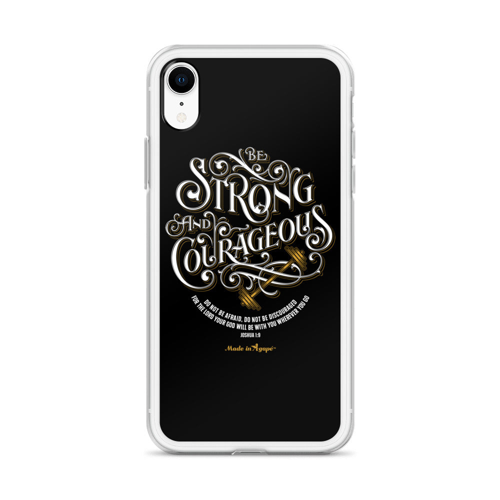 Be Strong And Courageous - iPhone Case-Made In Agapé