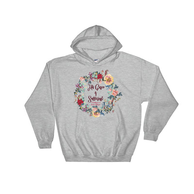 His Grace Is Sufficient - Women's Hoodie-Sport Grey-S-Made In Agapé