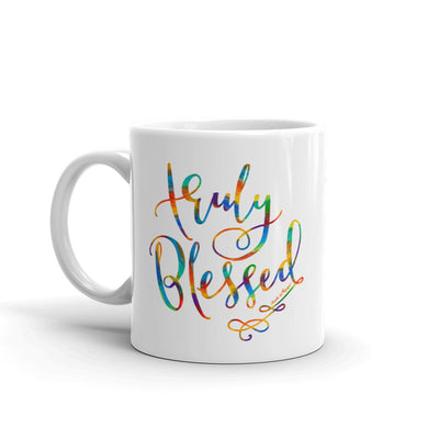 Truly Blessed - Coffee Mug-11oz-Left Handle-Made In Agapé