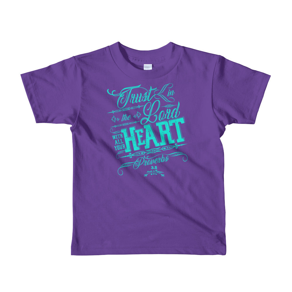 Trust In the Lord - Kids T-Shirt-Purple-2yrs-Made In Agapé