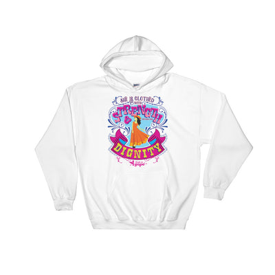 She's Clothed With Strength And Dignity - Women's Hoodie-White-S-Made In Agapé