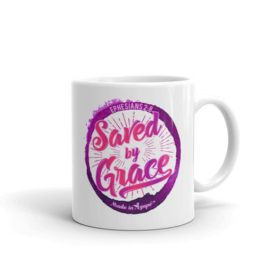 Saved By Grace - Coffee Mug-11oz-Made In Agapé