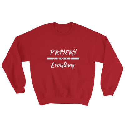 Prayers Above Everything - Women's Sweatshirt-Red-S-Made In Agapé