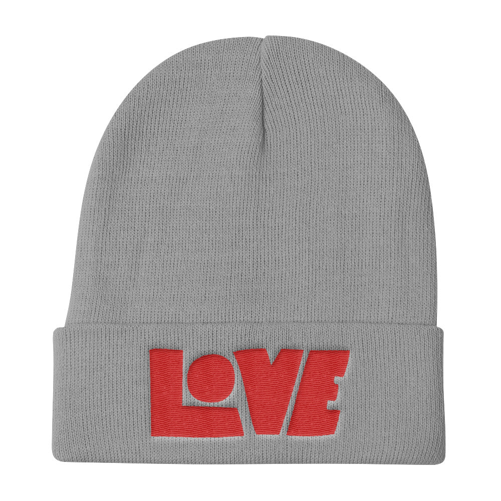 LOVE Protects - Knit Beanie-Gray-Made In Agapé