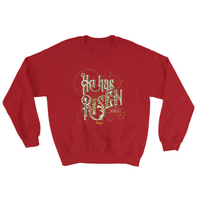He Has Risen - Men's Sweatshirt-Red-S-Made In Agapé