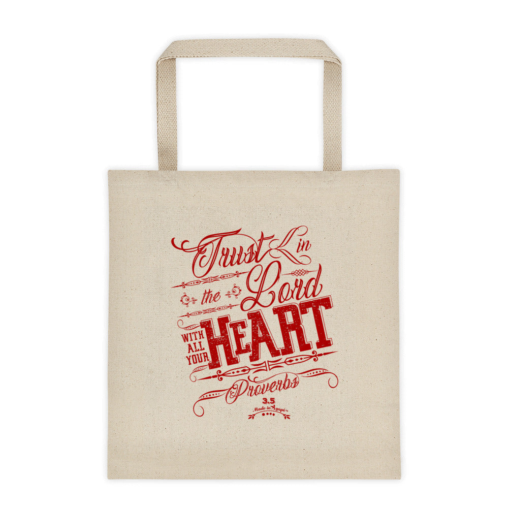Trust In The Lord - Tote Bag-Made In Agapé