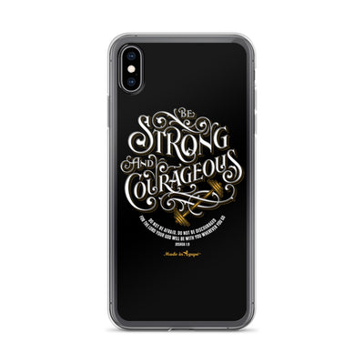 Be Strong And Courageous - iPhone Case-iPhone XS Max-Made In Agapé