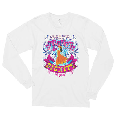 Clothed With Strength And Dignity - Unisex Long Sleeve Shirt-White-S-Made In Agapé