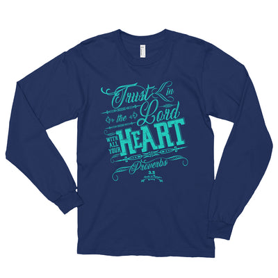 Trust In the Lord - Unisex Long Sleeve Shirt-Navy-S-Made In Agapé