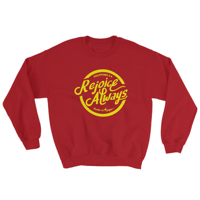 Rejoice Always - Women's Sweatshirt-Red-S-Made In Agapé