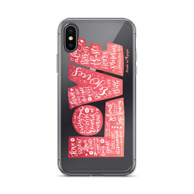 LOVE Protects - iPhone Case-iPhone X/XS-Made In Agapé
