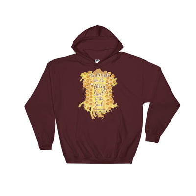 Kind Words Are Like Honey - Women's Hoodie-Maroon-S-Made In Agapé